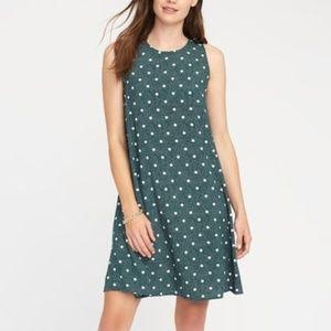 👗🌼 Old Navy Green Polka Dot Swing Mini Dress
